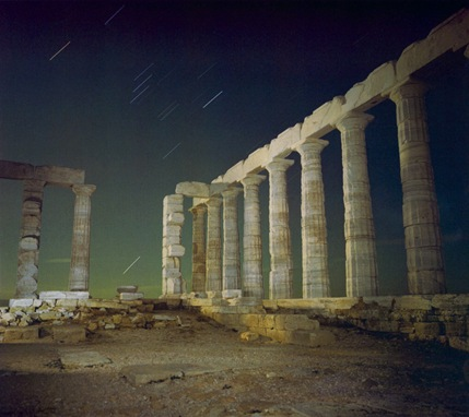 Sounion-with-stars-Greece-1979